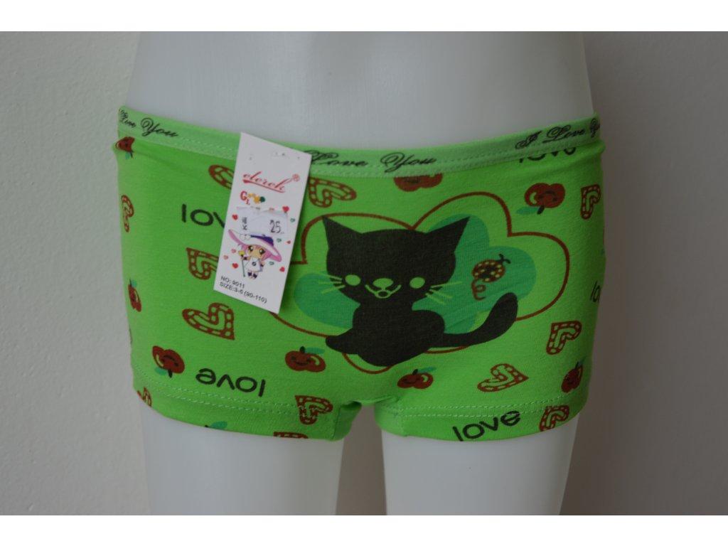 Dívčí nohavičkové kalhotky zn. Elevek - zelené