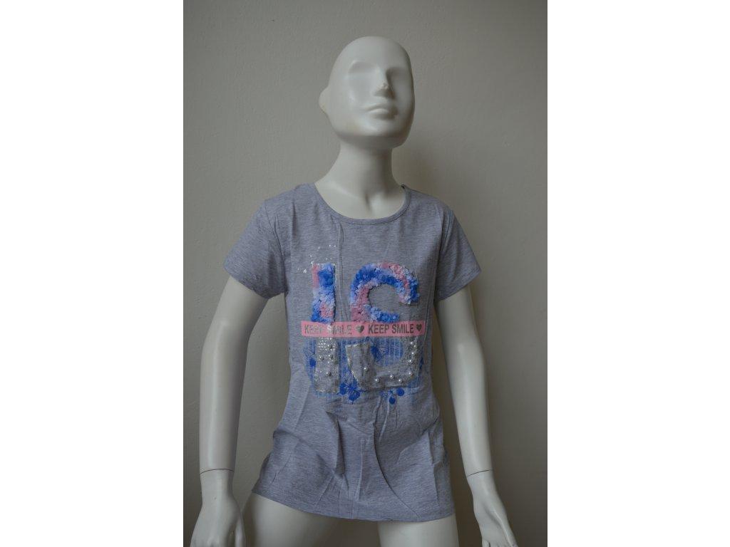 Dívčí triko zn. Kugo K 778 - šedé