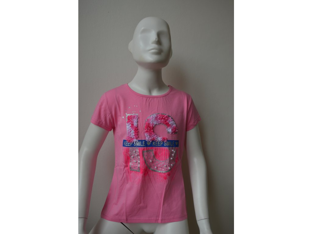 Dívčí triko zn. Kugo K 778 - růžové