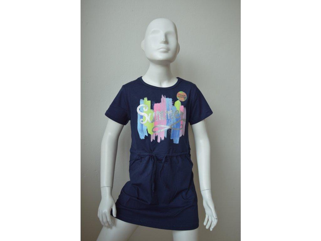 Dívčí šaty zn. Kugo - modré