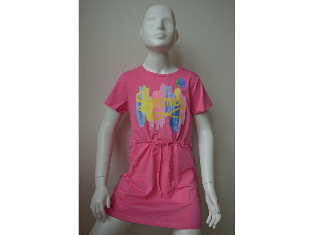 Dívčí šaty zn. Kugo - růžové