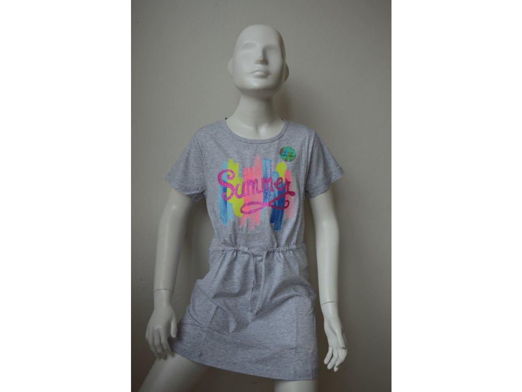 Dívčí šaty zn. Kugo - šedé