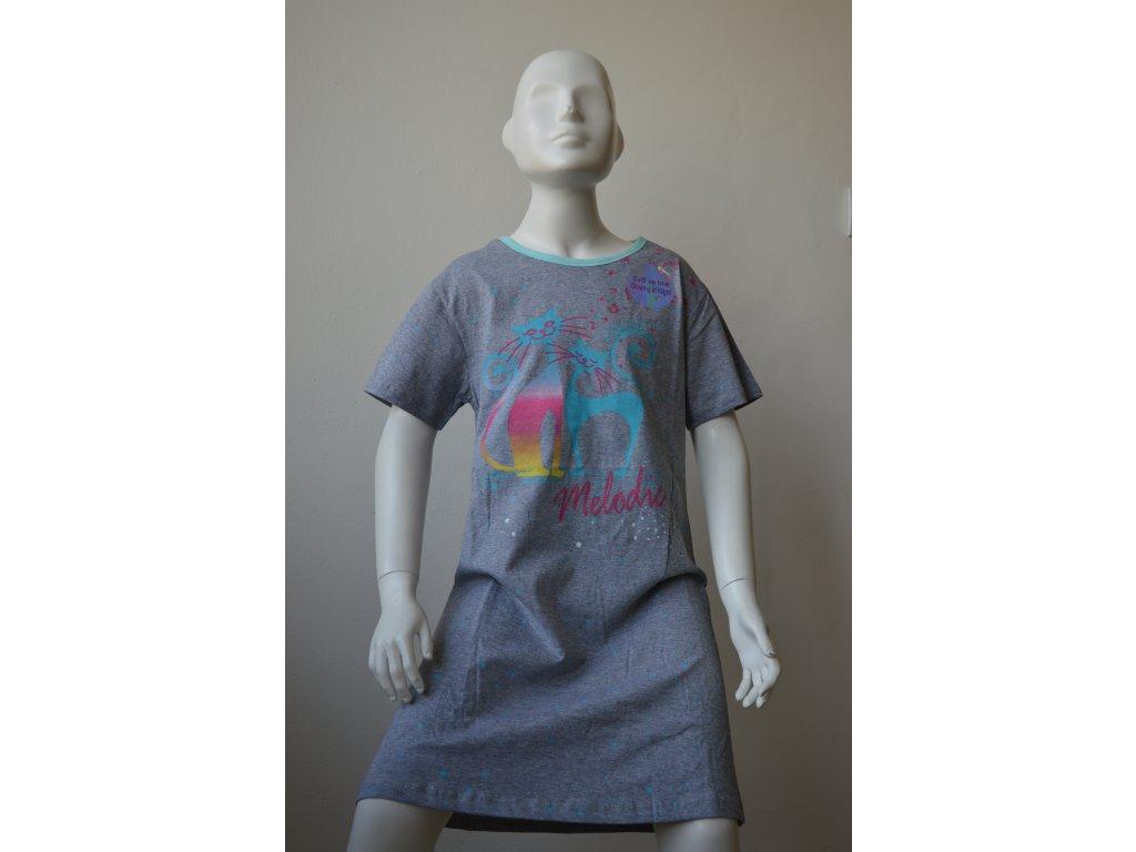 Dívčí noční košile Kugo MP1292 - šedá