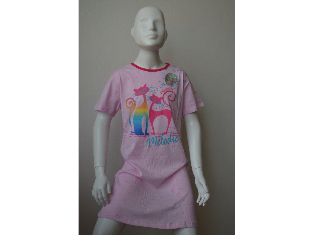 Dívčí noční košile Kugo MP1292 - světle růžová