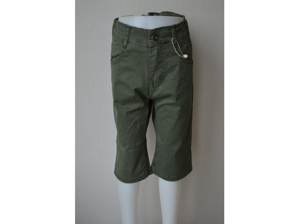 Chlapecké plátěné 3/4 kalhoty Kugo TK 840 - zelené
