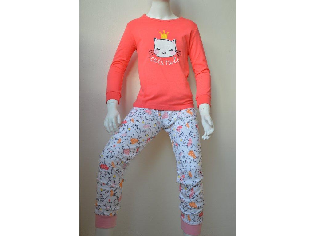 Dívčí pyžamo Wolf fialkové