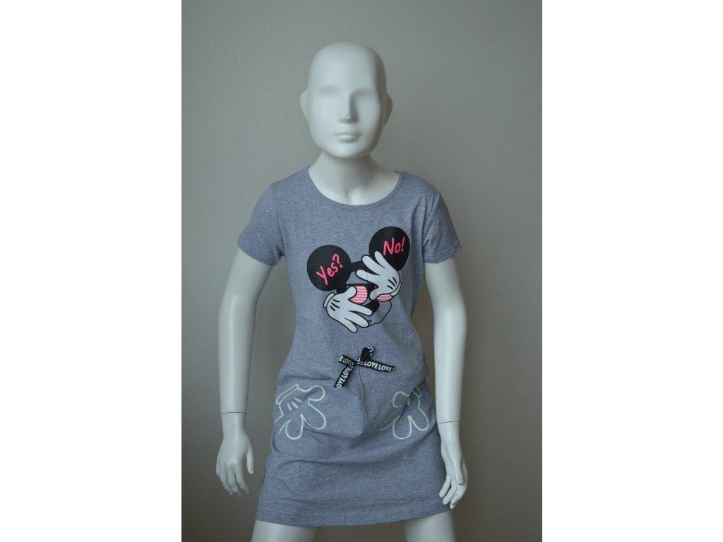 Dívčí šaty Kugo WK 0832 - šedé