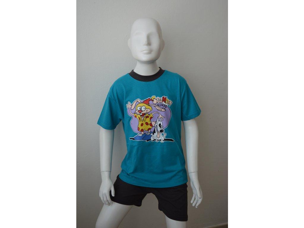 Chlapecké letní pyžamo zn. Coadin - tyrkysové