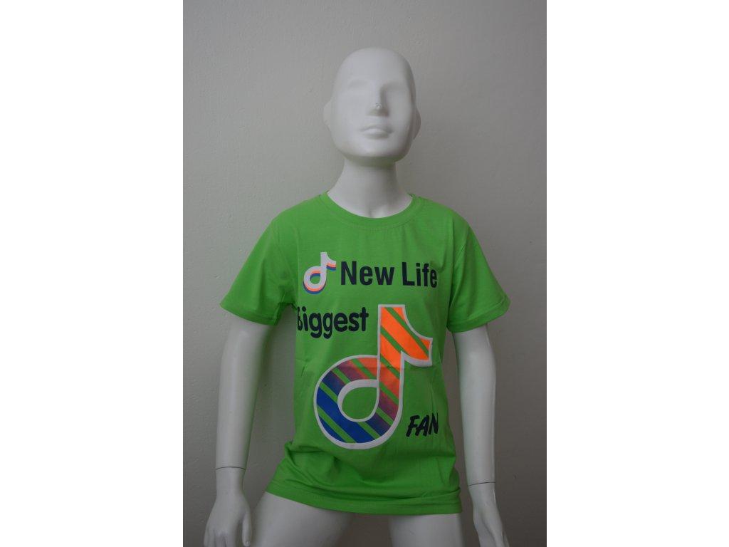 Chlapecké triko Kugo FC 0521 - zelené