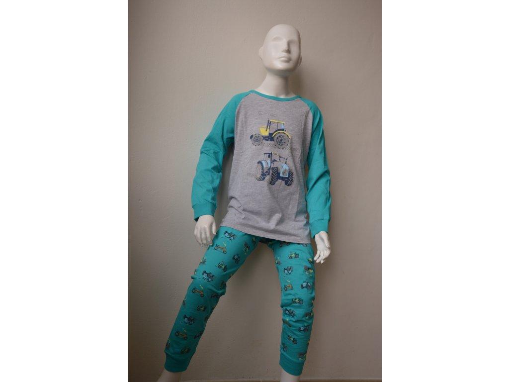 Chlapecké tenké pyžamo Wolf S 2155 B - šedozelené