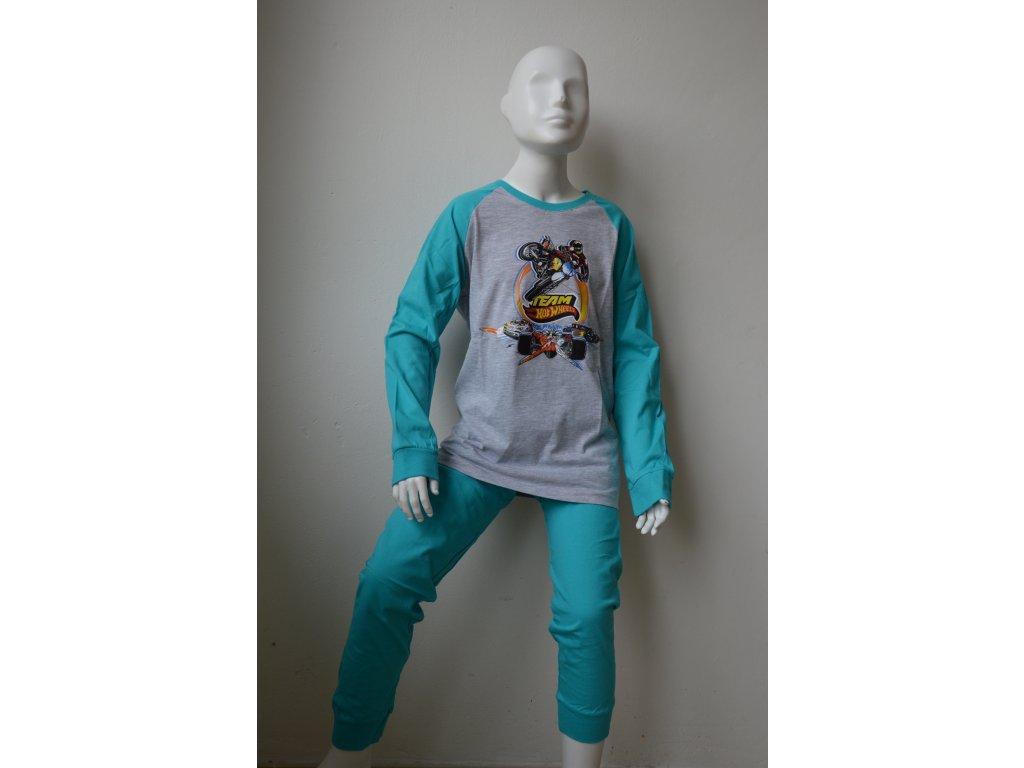 Dorostenecké tenké pyžamo Wolf S 2156 B - zelenošedé