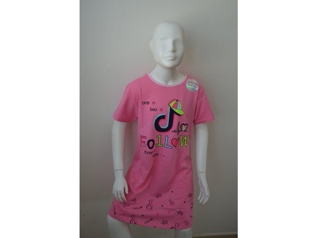 Dívčí noční košile Kugo MP 1503  - růžová