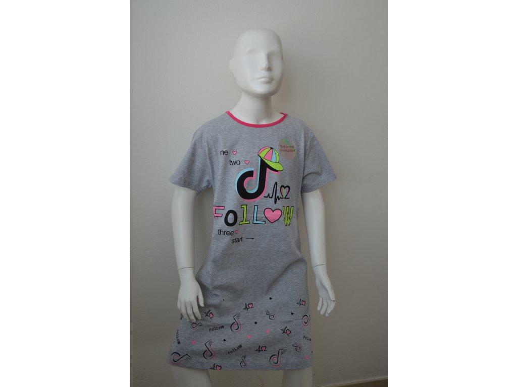 Dívčí noční košile Kugo MP 1503  - šedá