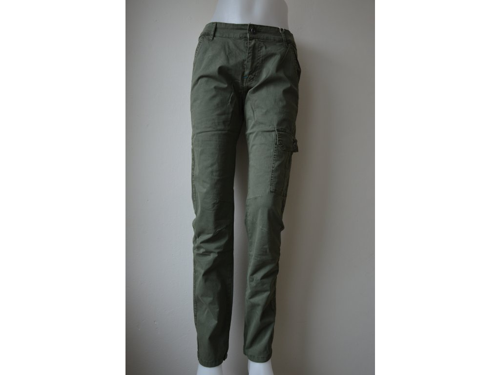 Chlapecké plátěné kalhoty Kugo TK 837 - zelené