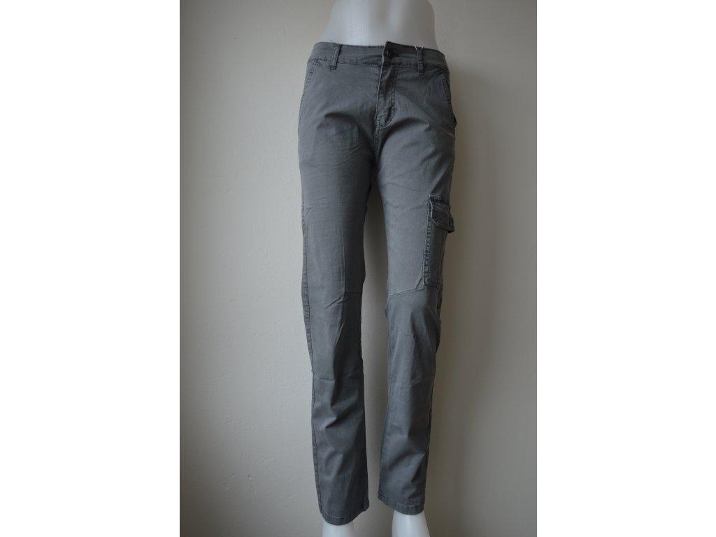 Chlapecké plátěné kalhoty Kugo TK 837 - šedé