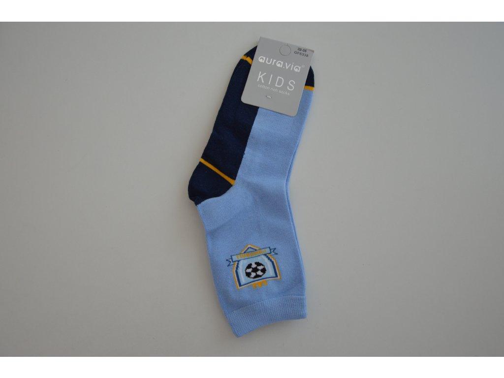 Dorostenecké ponožky Aura.via GF 6338 světle modré