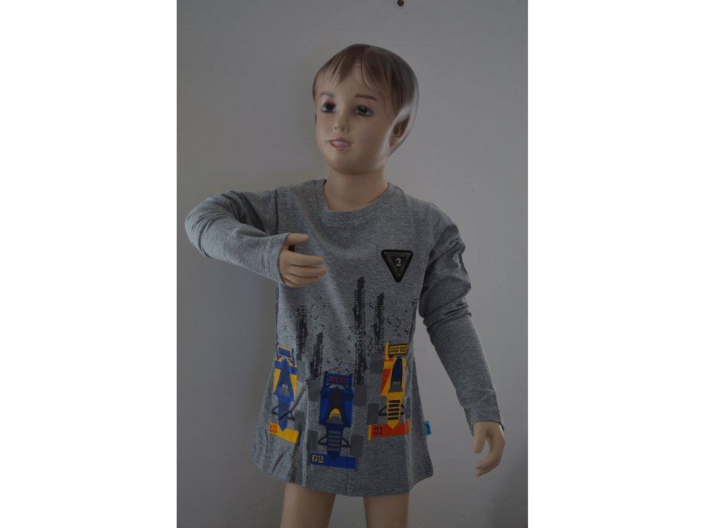 Chlapecké triko Kugo M 0210 - šedé