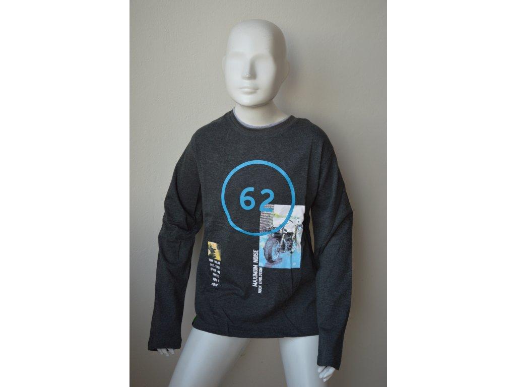 Chlapecké triko Kugo M 8808 - šedé