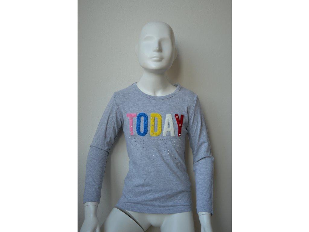Dívčí triko Kugo K 9838 - šedé