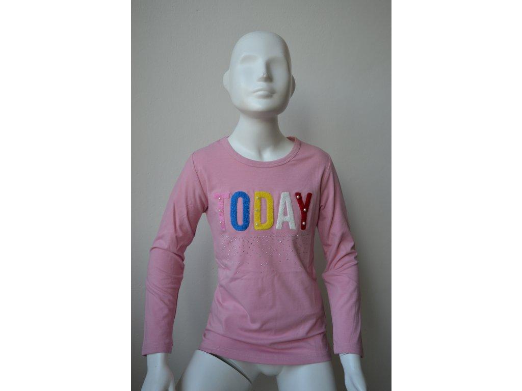 Dívčí triko Kugo K 9838 - růžové