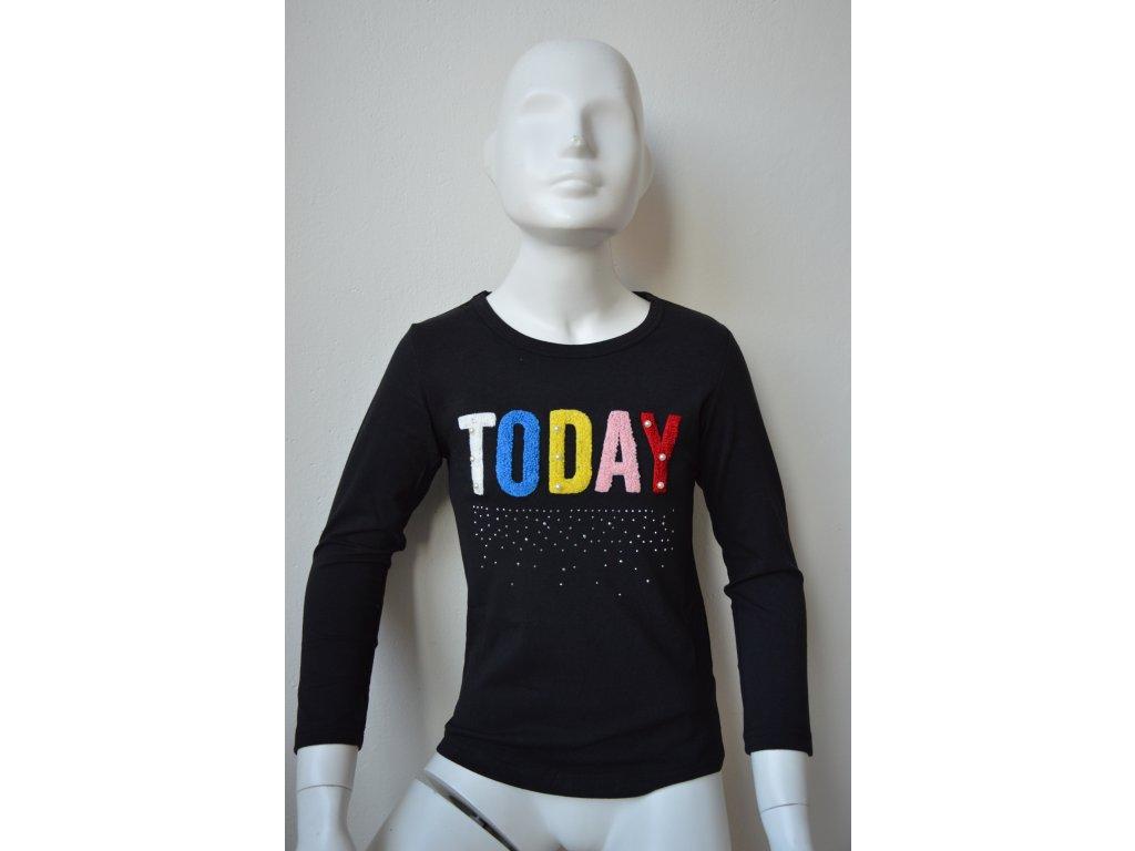Dívčí triko Kugo K 9838 - černé