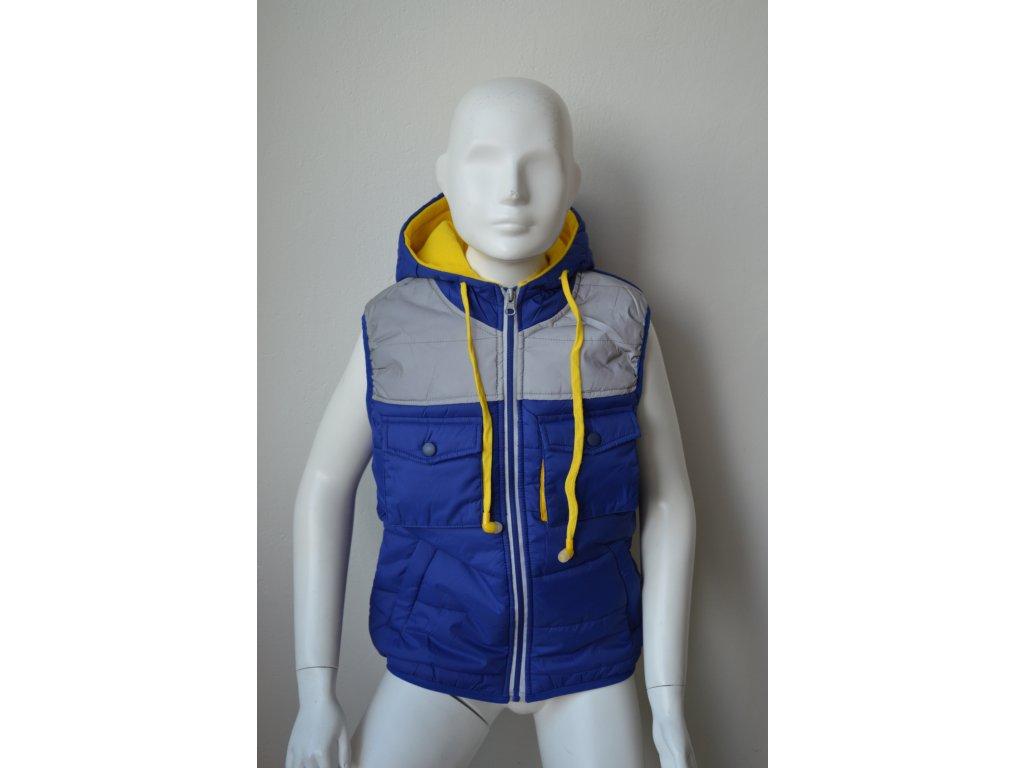 Dorostenecká šusťáková vesta Kugo  YZ 8035 - modrá