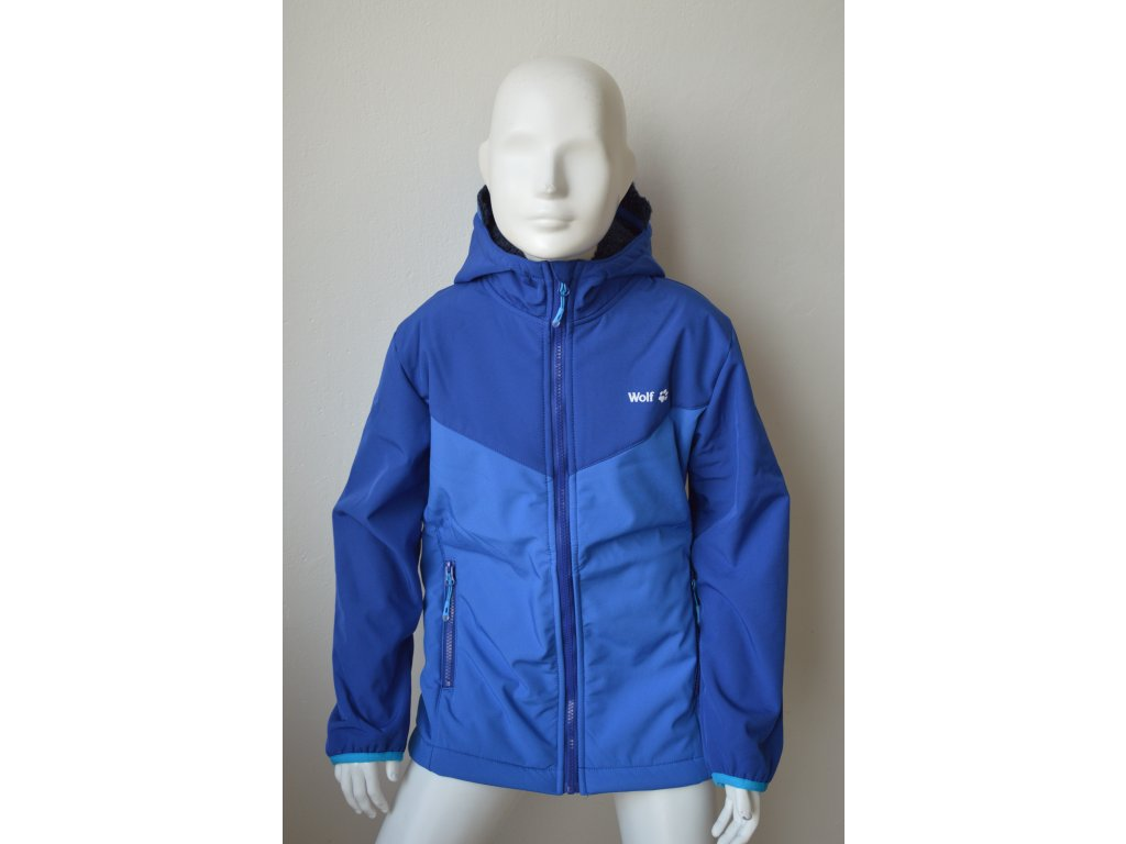 Chlapecká teplá softshellová bunda Wolf B 2063 - modrá