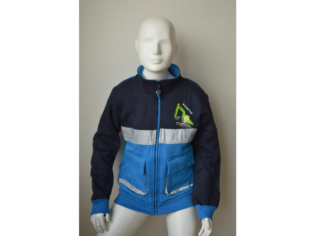 Chlapecká outdoorová mikina Kugo MM 1284 - modrá