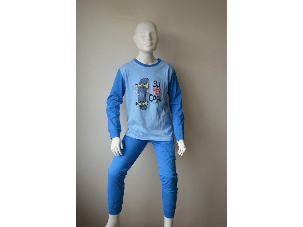 Chlapecké bavlněné pyžamo zn. Wolf S 2167 -modré