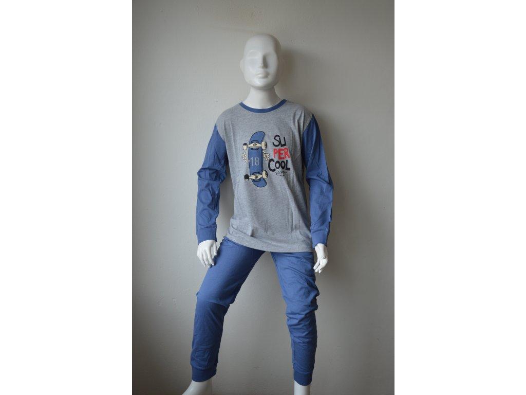 Chlapecké bavlněné pyžamo zn. Wolf S 2167 - šedé