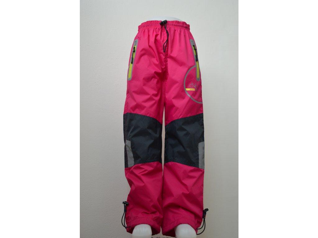 Dívčí šusťákové kalhoty Kugo - řůžové