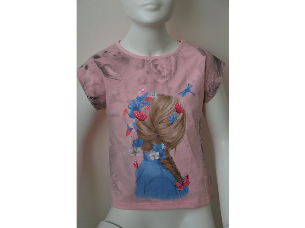 Dívčí tričko Kugo - světle růžové