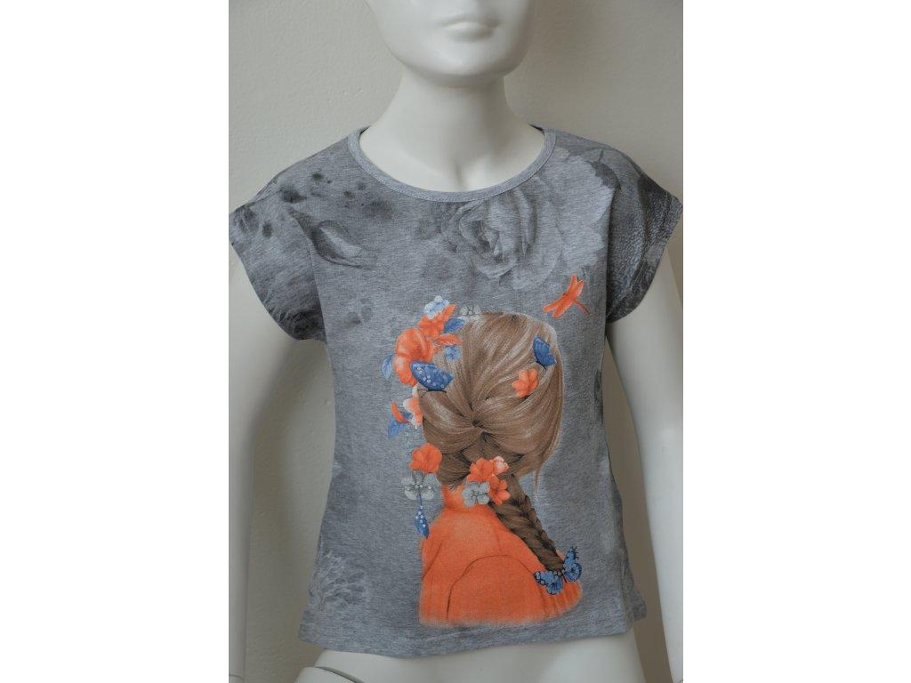 Dívčí tričko Kugo - šedé