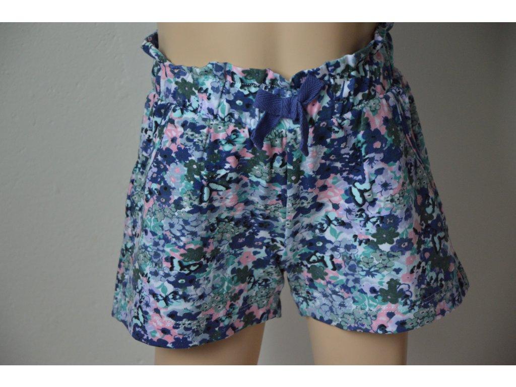 Dívčí šortky Wolf - fialové květiny