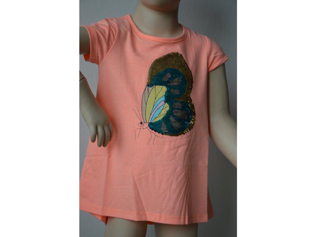 Dívčí triko Wolf - oranžové