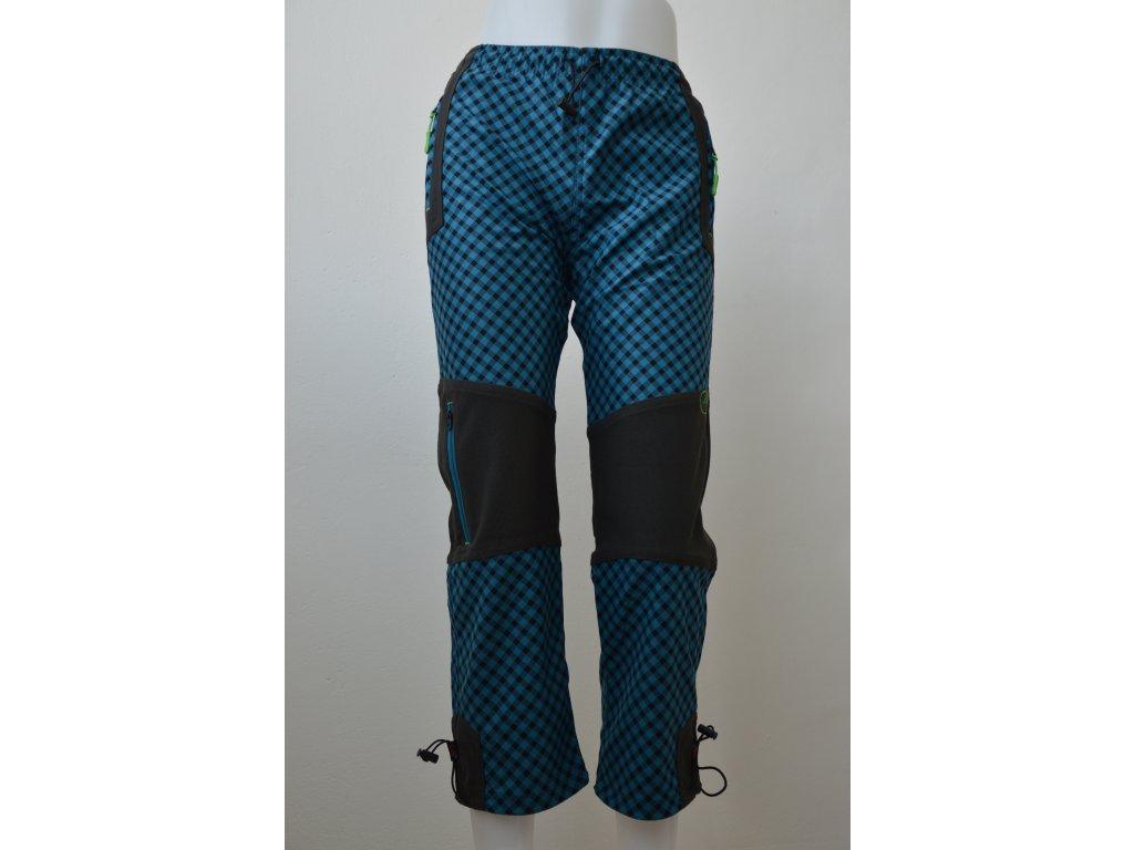 Chlapecké outdoorové kalhoty Kugo - petrolejová kostka