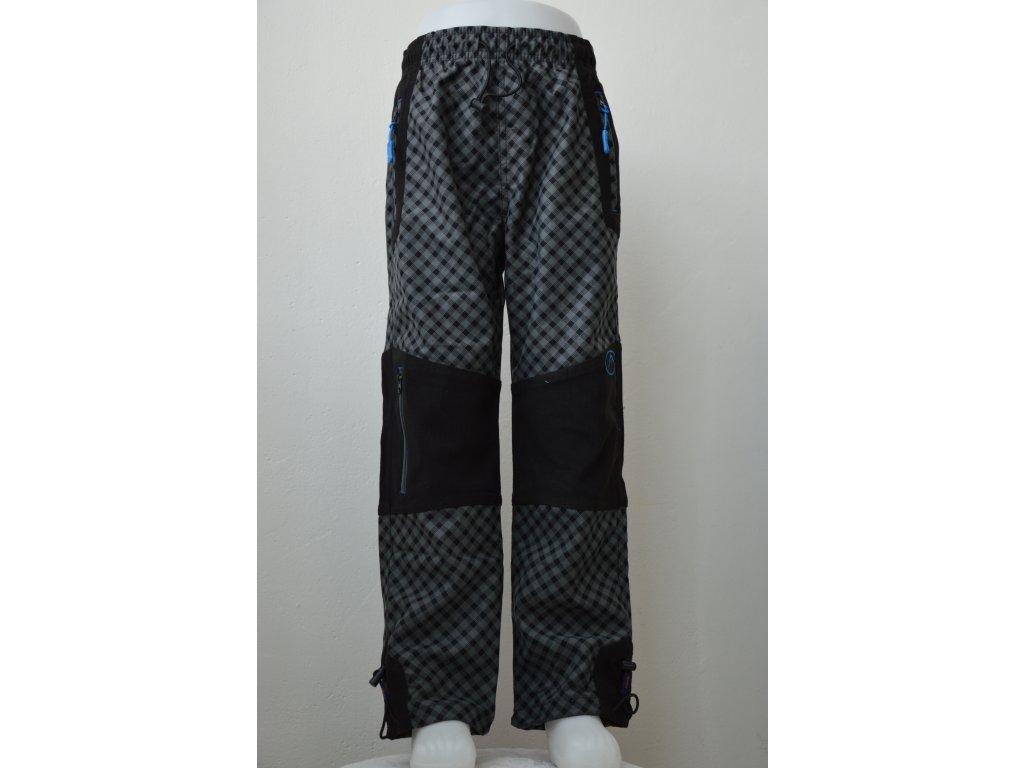 Chlapecké outdoorové kalhoty Kugo - šedá kostka