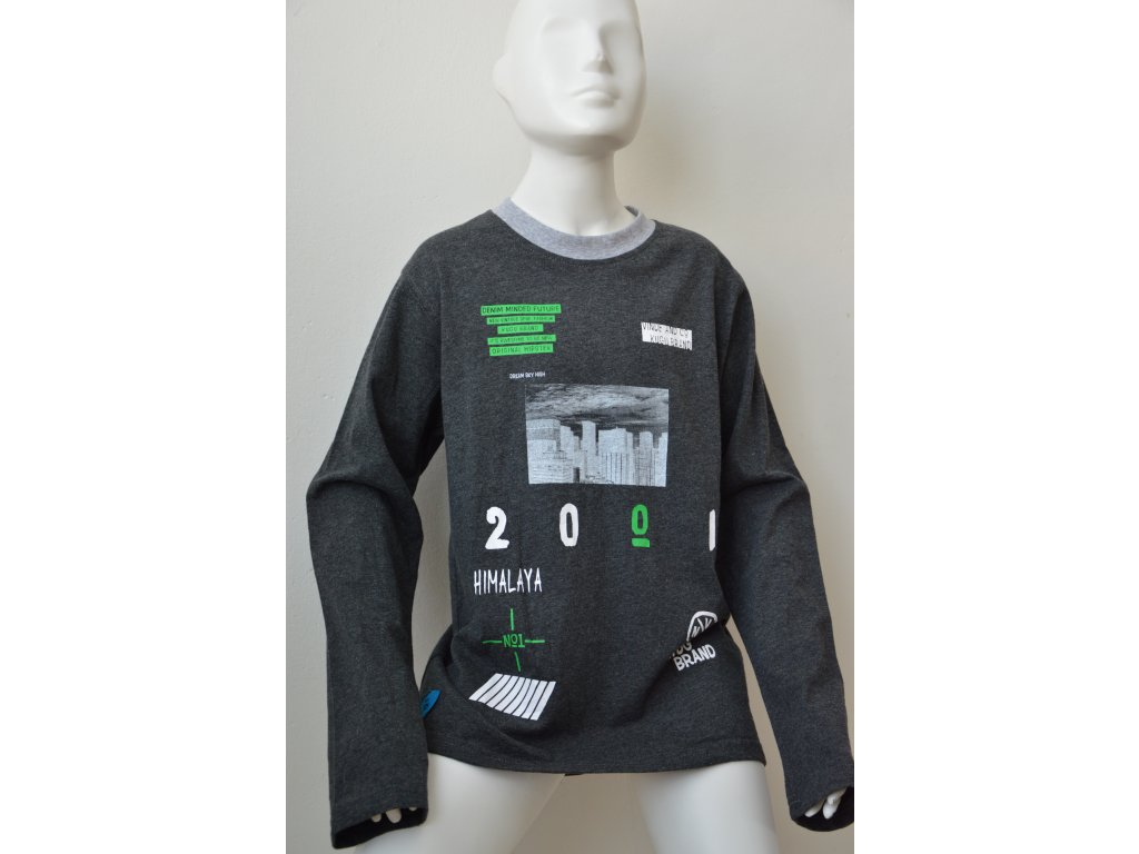 Chlapecké triko Kugo - tm. šedé