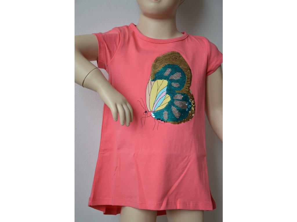 Dívčí triko Wolf - růžové