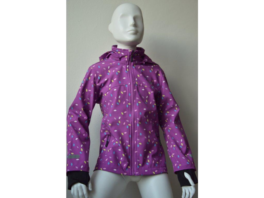 Dívčí softshellová bunda Wolf - světle fialová
