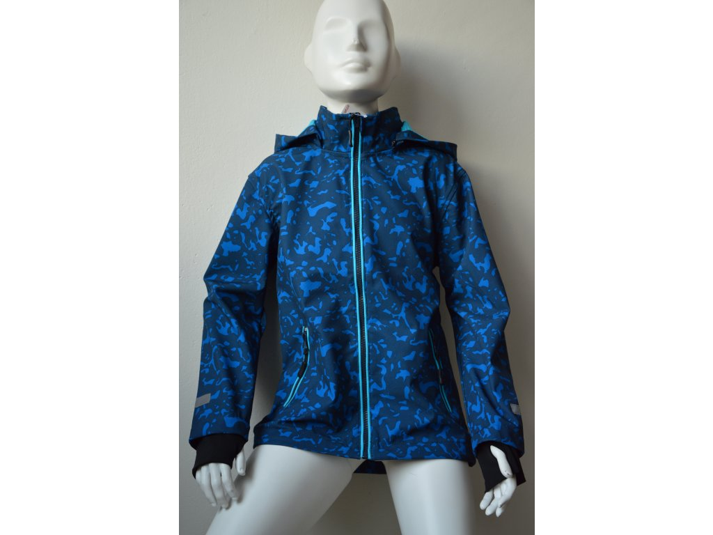 Chlapecká softshellová bunda Wolf - modrá
