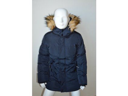 Dorostenecká zimní bunda s kapucí - modrá