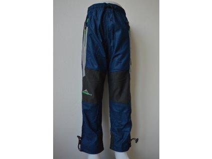 Chlapecké outdoorové kalhoty Kugo G9630 modrá kostka - zelený zip