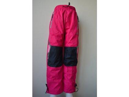 Dívčí šusťákové kalhoty Kugo HK 9005 - růžové