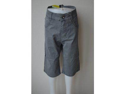 Chlapecké plátěné 3/4 kalhoty Kugo TK 840 - šedé