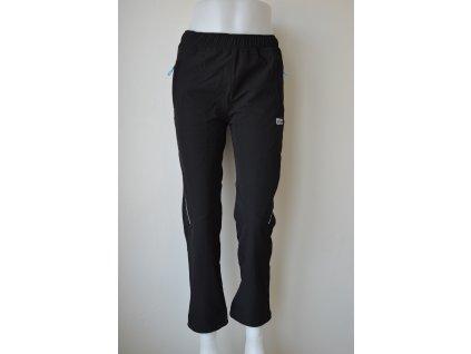 Slabé dorostenecké softshellové kalhoty Wolf B 2087 - černé