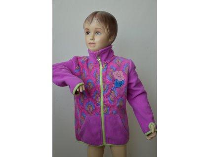 Dívčí fleecová mikina Wolf - fialová