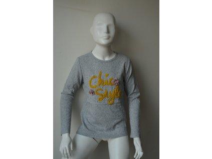 Dívčí svetr Kugo B 3083 - šedé
