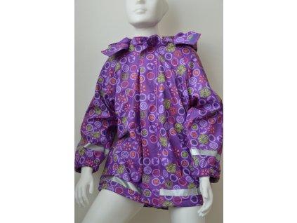 Dívčí nepromokavá bunda Kugo - fialová