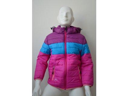 Dívčí bunda zn. Kugo - růžovomodrá